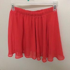 Scarlet flowy skirt